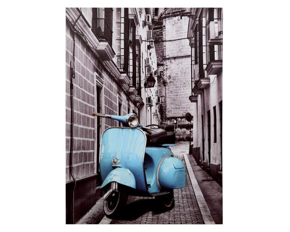 Платно  Blue Motocycle 7067 - Стенни декорации и картини