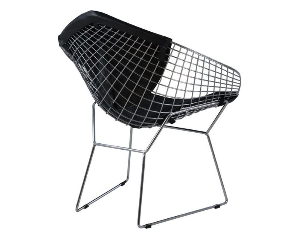Кресло с PU кожа 5100 - черен - Трапезни столове