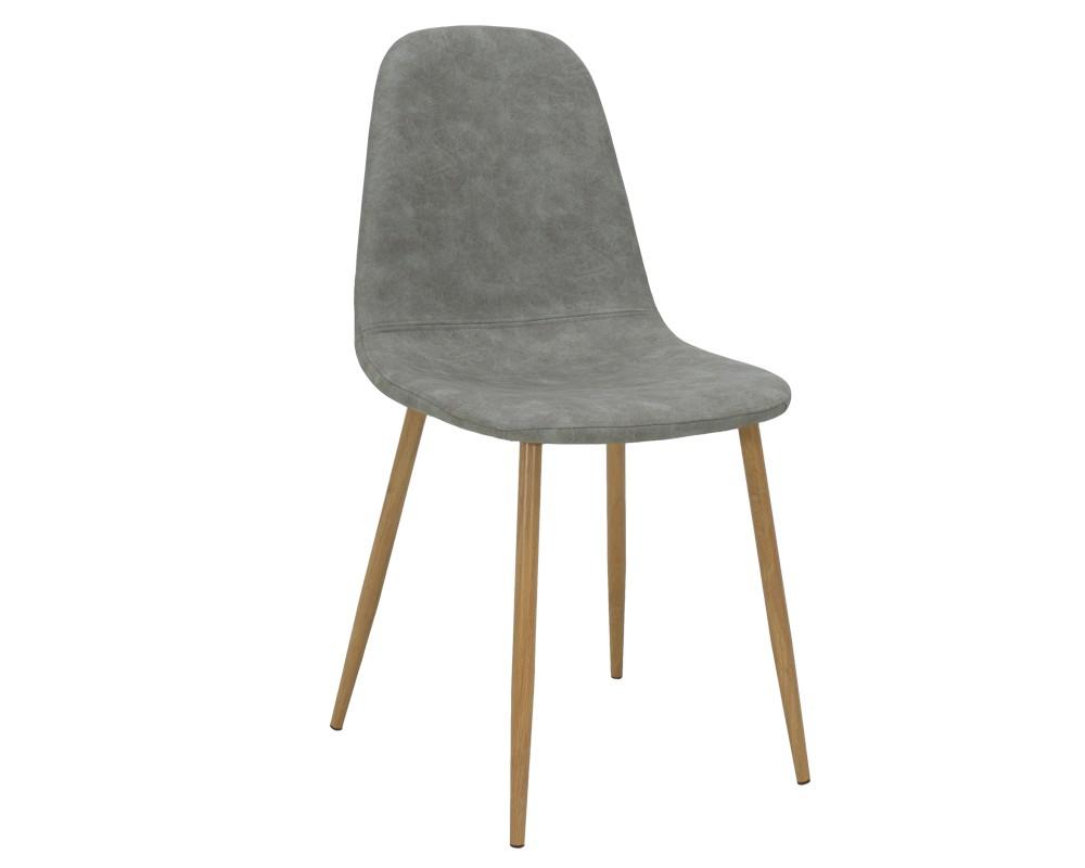 Bella  метален стол, естествен с PU различни цветове - Трапезни столове