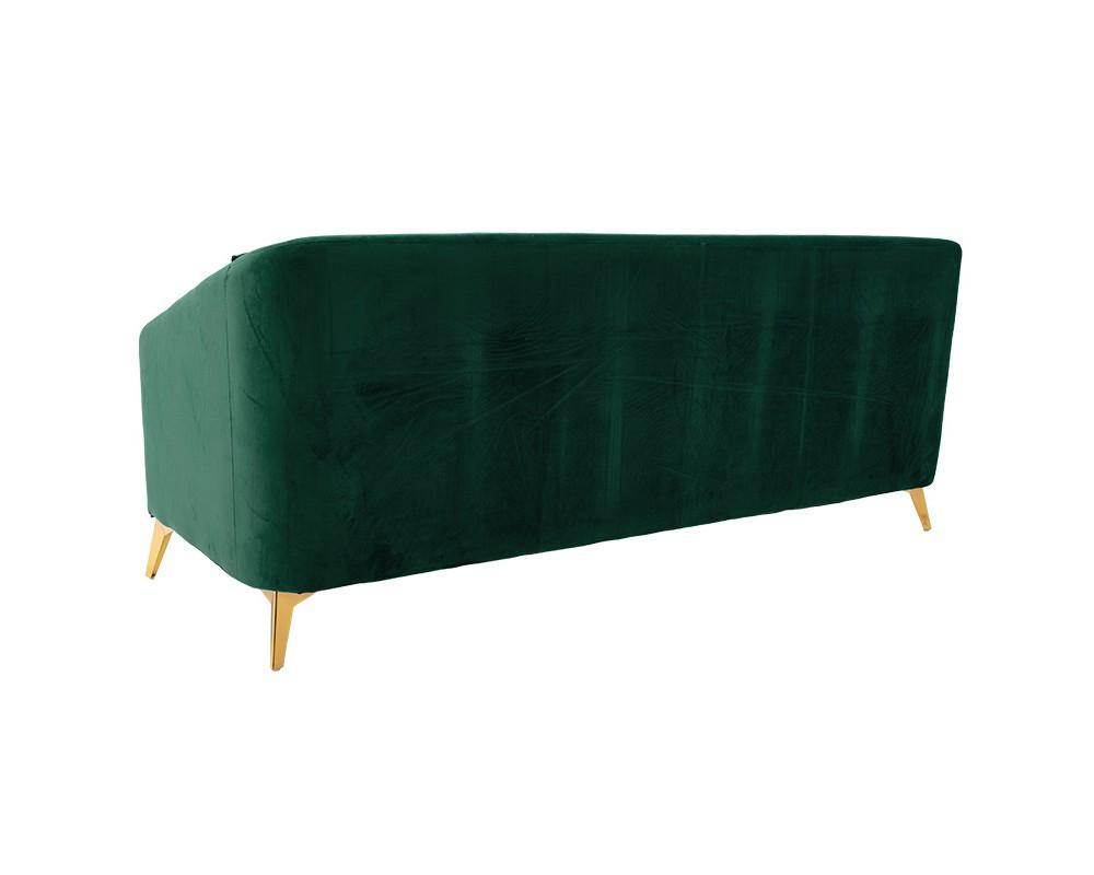3-местен диван Пакс  кадифен, тъмно зелен - Дивани